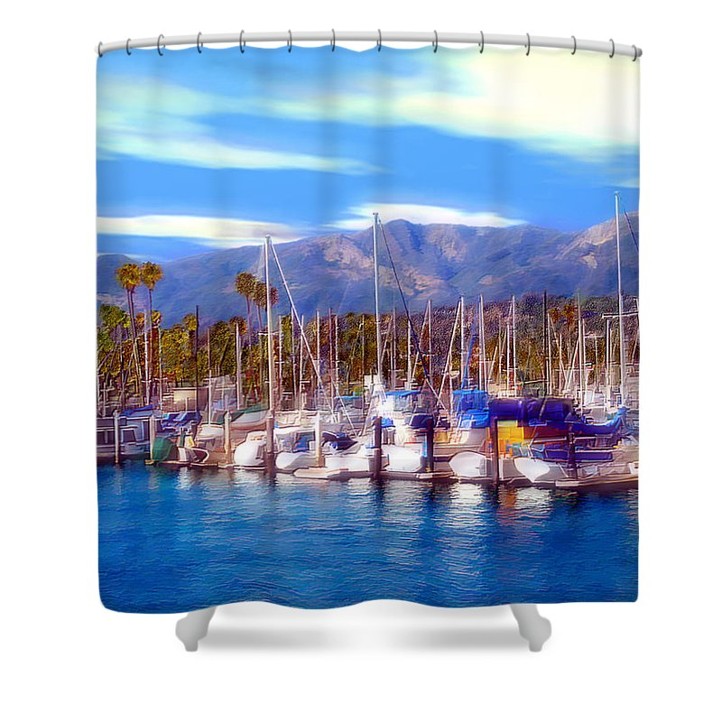 Charbor Shower Curtain featuring the photograph Safe Haven by Kurt Van Wagner