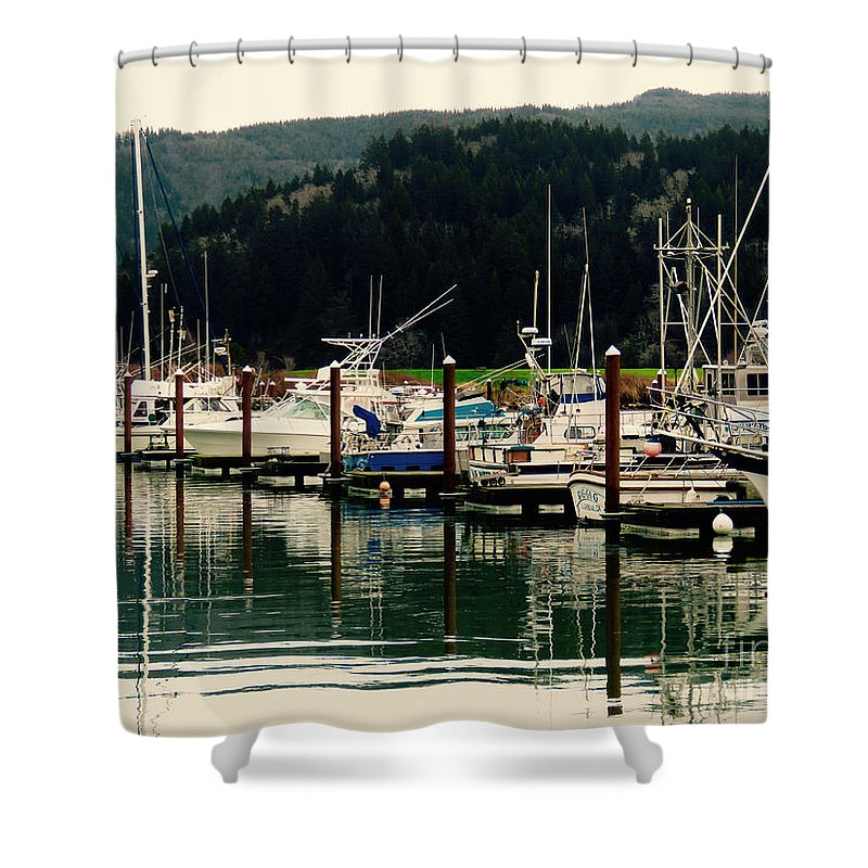 Boat Shower Curtain featuring the photograph Safe Haven by Ronald and Nancy