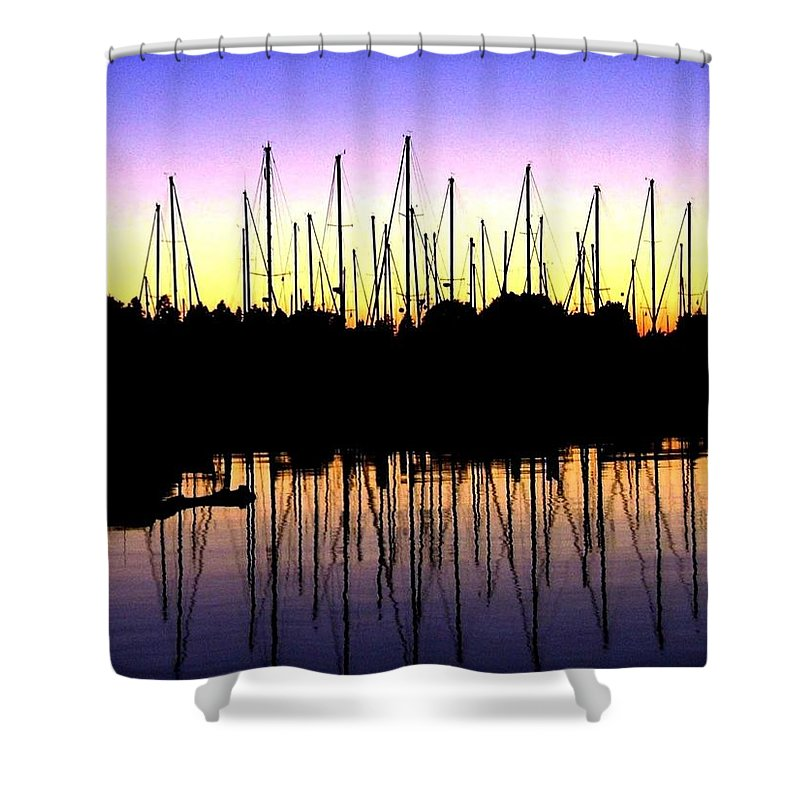 Sailboats Shower Curtain featuring the photograph Safe Haven by Will Borden