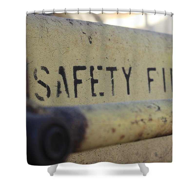 Safety Shower Curtain featuring the photograph Safety First by Wade Milne