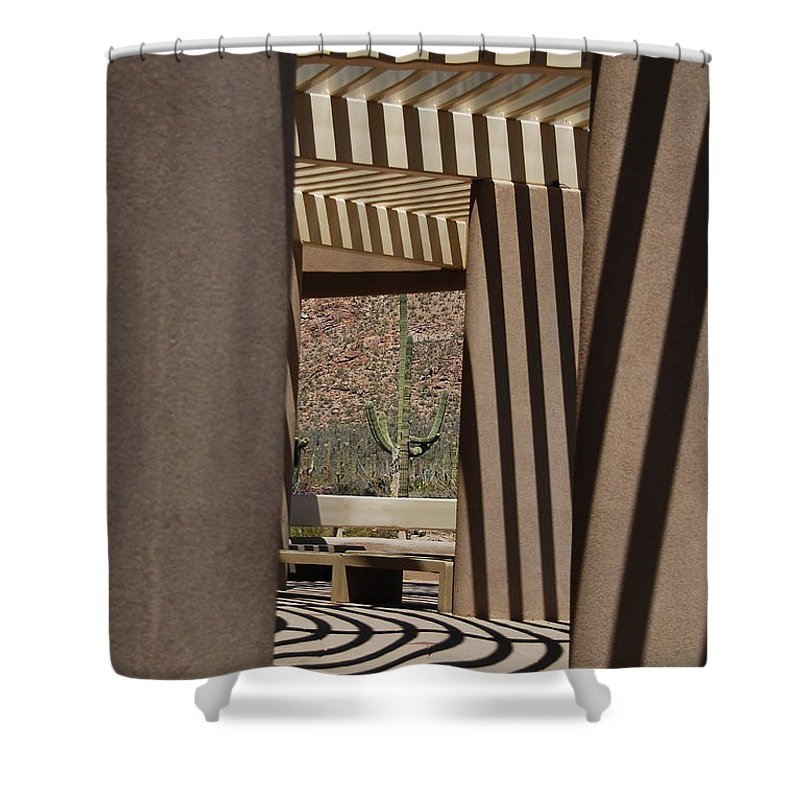 Architecture Shower Curtain featuring the photograph Saguaro National Park by Lois Bryan