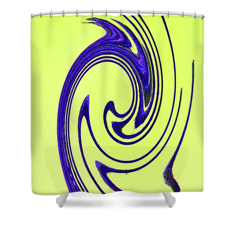 Saguaro Spines Abstract Shower Curtain featuring the digital art Saguaro Spines Abstract by Tom Janca