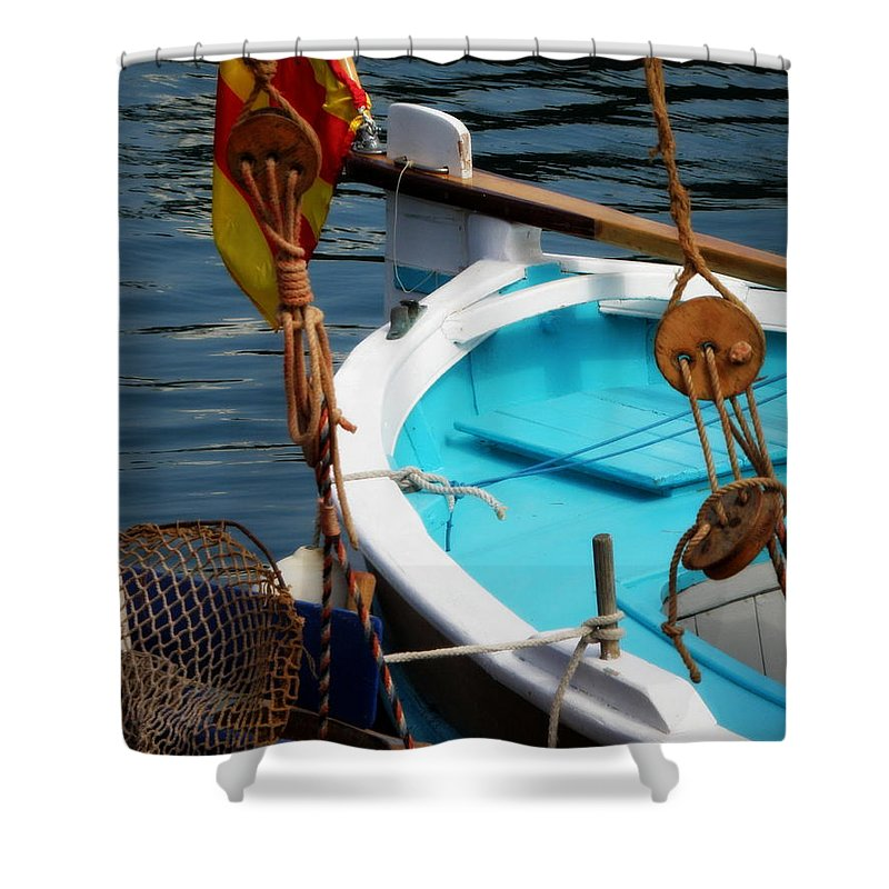 Sailing Shower Curtain featuring the photograph Sailing Dories 1 by Lainie Wrightson