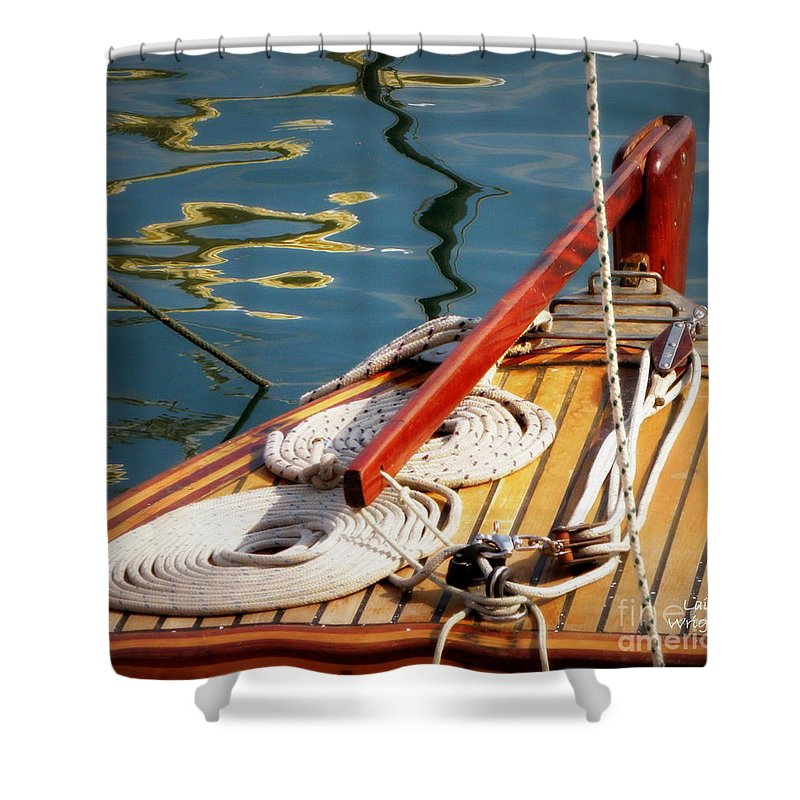 Sailing Shower Curtain featuring the photograph Sailing Dories 4 by Lainie Wrightson