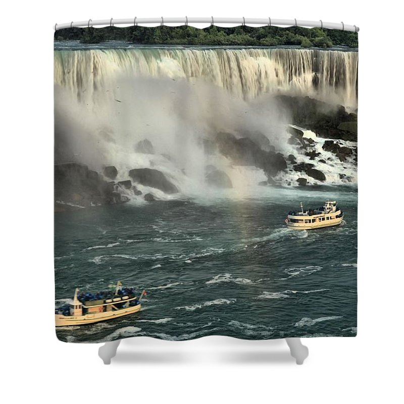 Niagara Falls State Park Shower Curtain featuring the photograph Sailing Into The Mist by Adam Jewell