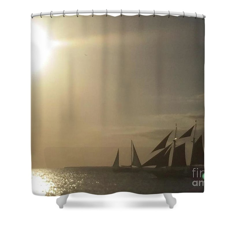Sailing Shower Curtain featuring the photograph Sailing by Jonathan Bottomley