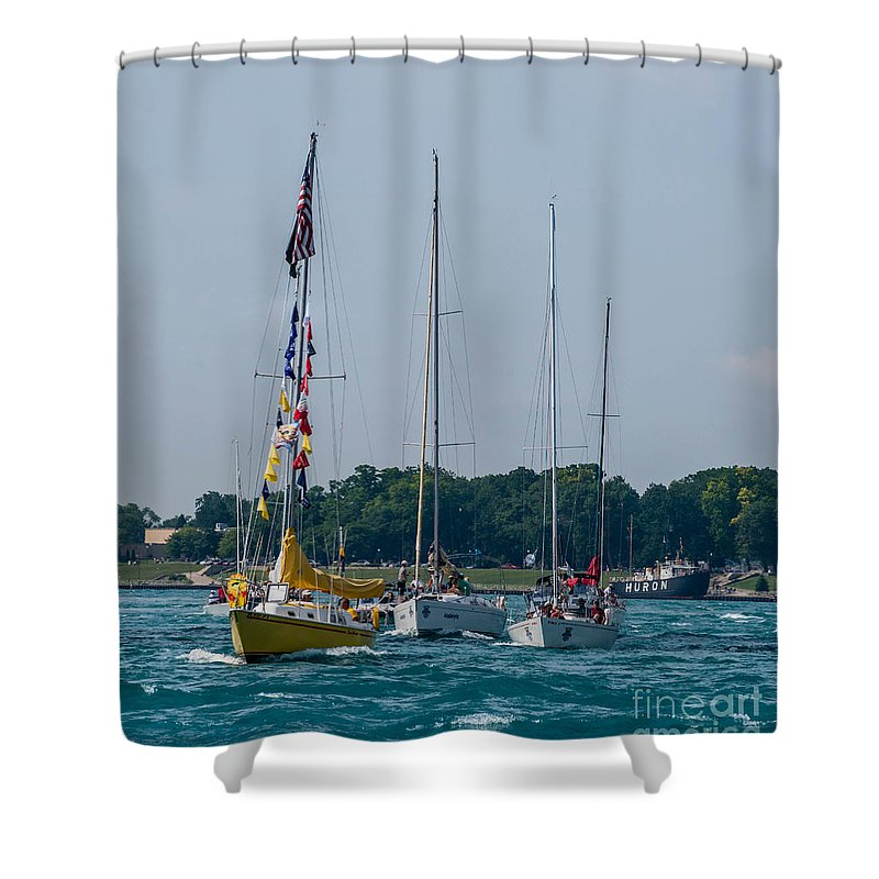 Sailing Shower Curtain featuring the photograph Sailing North by Grace Grogan