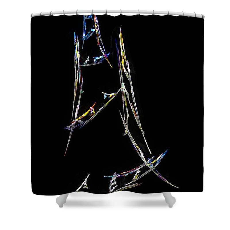 Abstract Shower Curtain featuring the digital art Sailing The South China Sea by RC DeWinter