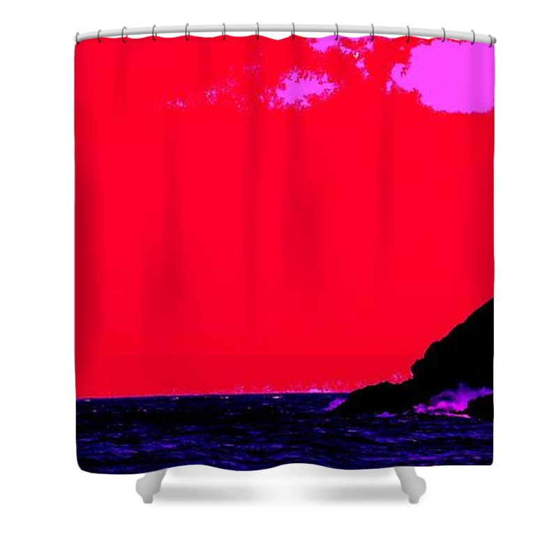 Morning Shower Curtain featuring the photograph Sailor Take Warning by Ian MacDonald