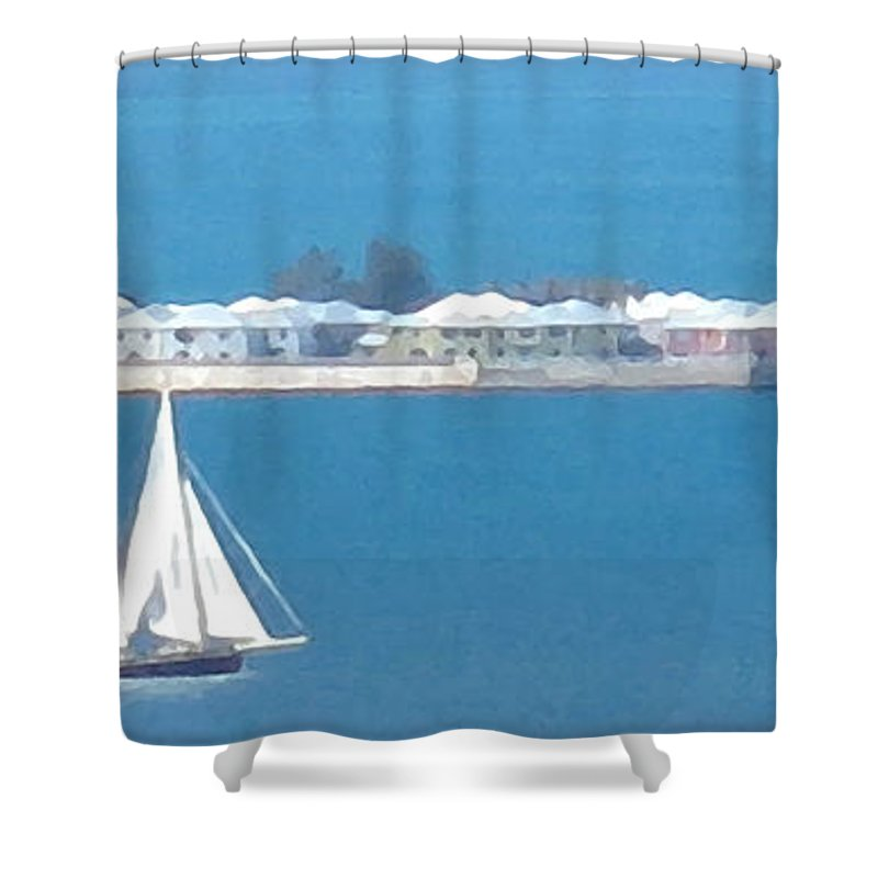 Sailboat Shower Curtain featuring the photograph Sails In Bermuda by Ian MacDonald