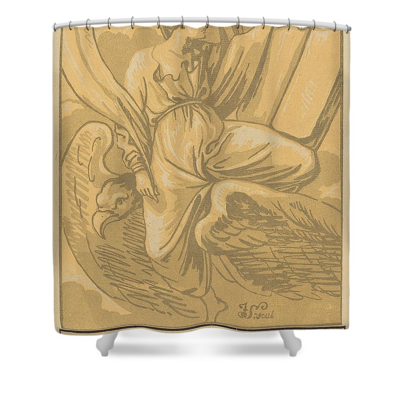 Shower Curtain featuring the drawing Saint John The Evangelist by John Skippe After Parmigianino