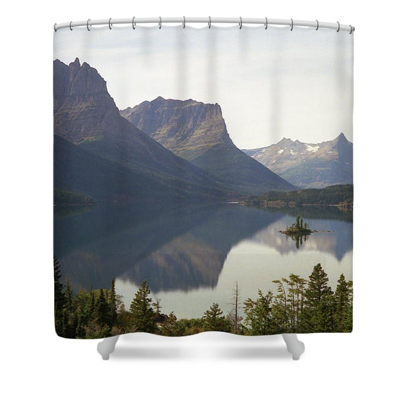 Lake Shower Curtain featuring the photograph Saint Marys Lake by Richard Rizzo