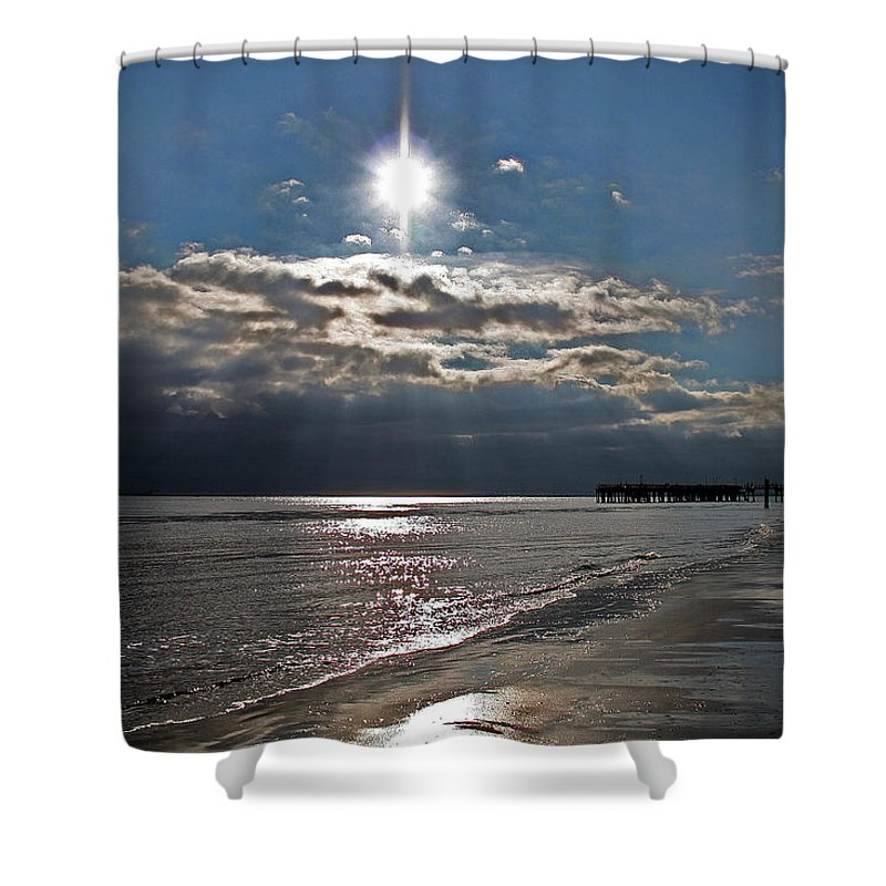 Water Shower Curtain featuring the photograph Saint Simons Island by David Campbell
