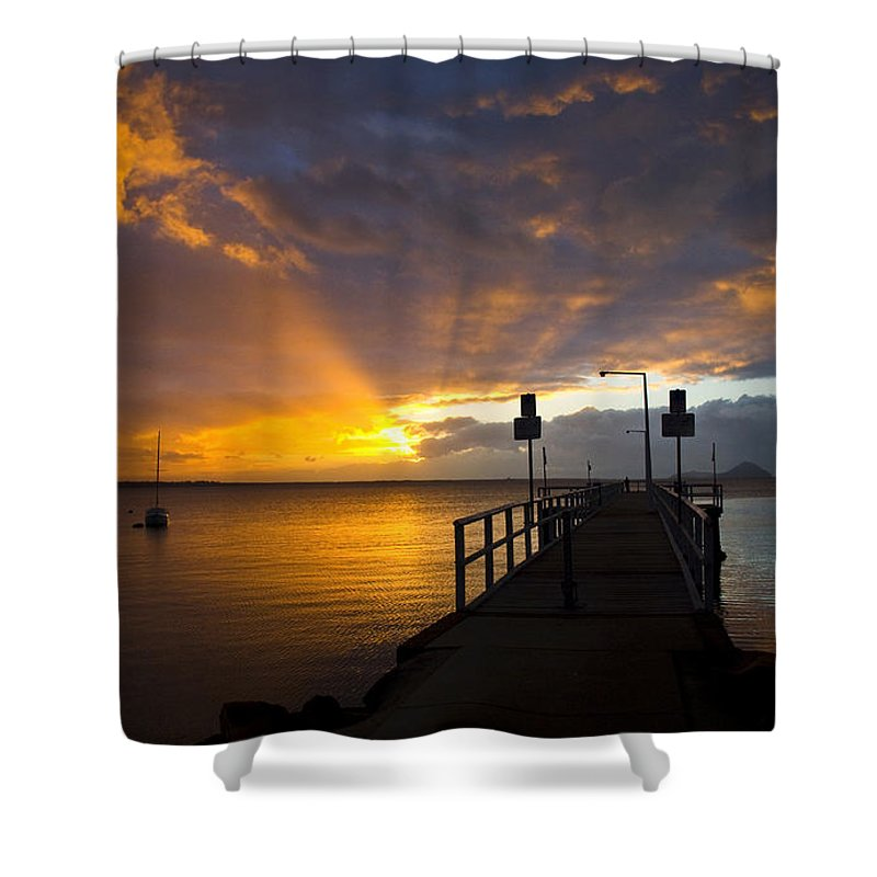 Sunrise Shower Curtain featuring the photograph Salamander Bay Sunrise by Sheila Smart Fine Art Photography
