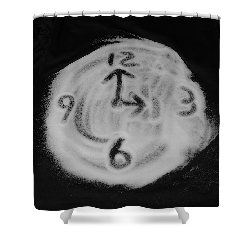 Black And White Shower Curtain featuring the photograph Salt Clock by Rob Hans