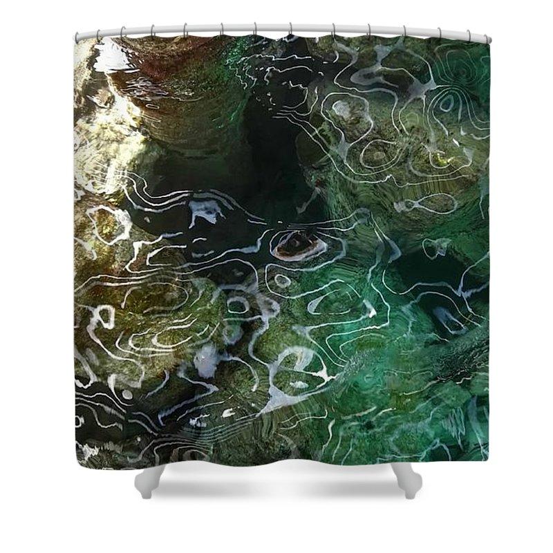 Sea Shower Curtain featuring the photograph Salt by Natascha Merianagroene