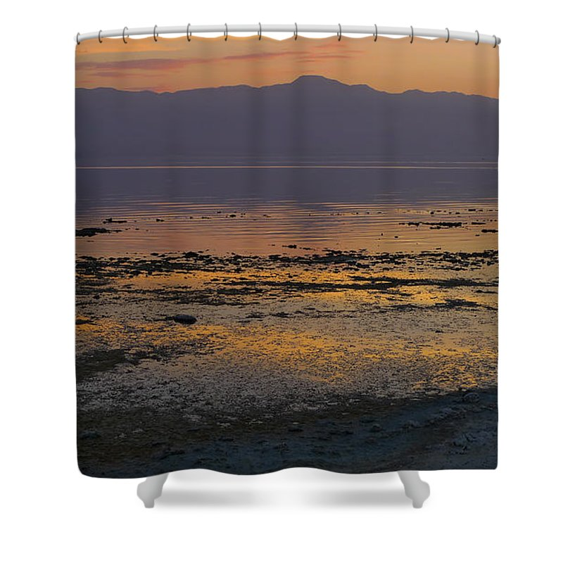 Salton Shower Curtain featuring the photograph Salton by Skip Hunt