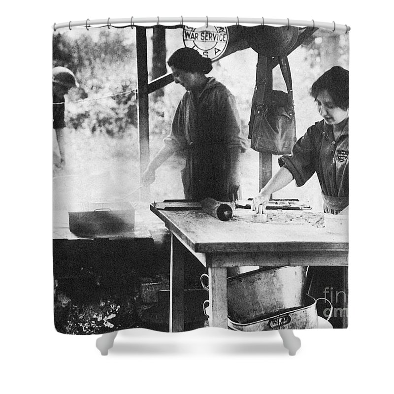 1918 Shower Curtain featuring the photograph Salvation Army, 1918 by Granger