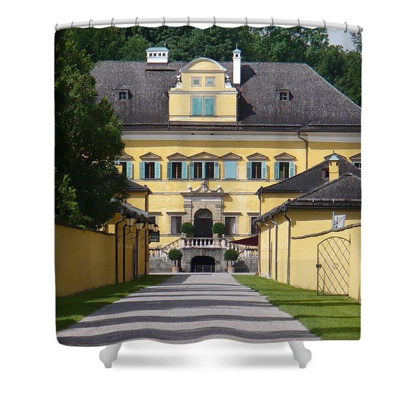 Austria Shower Curtain featuring the photograph Salzburg Chateau by Carol Groenen