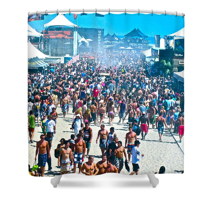 Photograph Shower Curtain featuring the photograph Same Shot Muscles by Gwyn Newcombe