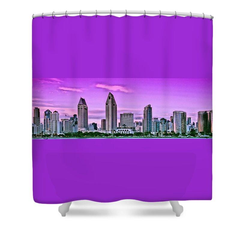 San Diego Shower Curtain featuring the photograph San Diego Panorama by DJ Florek