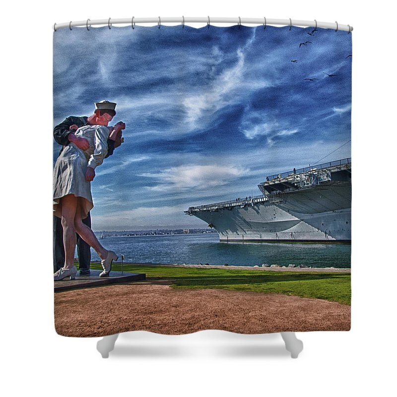 Sailor Shower Curtain featuring the photograph San Diego Sailor by Chris Lord