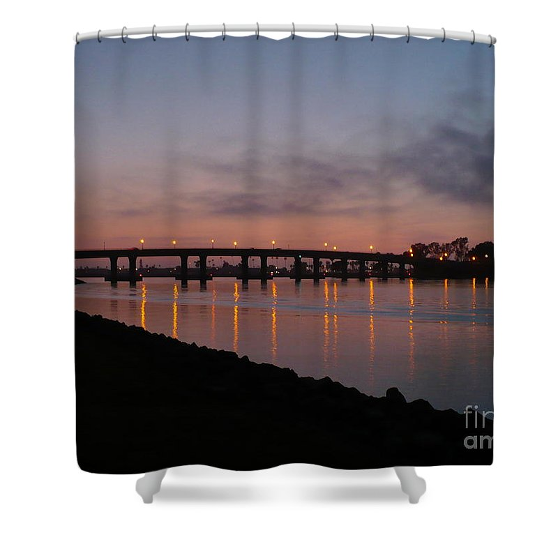San Diego Shower Curtain featuring the photograph San Diego Sunset 1 by Carol Groenen