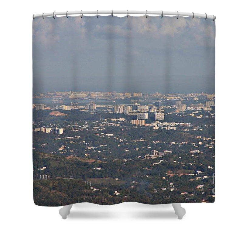San Juan Shower Curtain featuring the photograph San Juan City by Gilbert