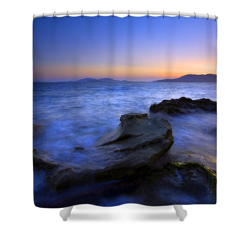 Sunset Shower Curtain featuring the photograph San Juan Sunset by Mike Dawson