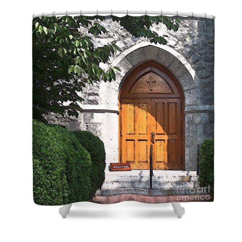 Church Shower Curtain featuring the photograph Sanctuary by Debbi Granruth