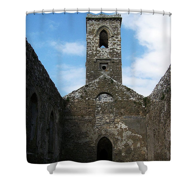 Ireland Shower Curtain featuring the photograph Sanctuary Fuerty Church Roscommon Ireland by Teresa Mucha