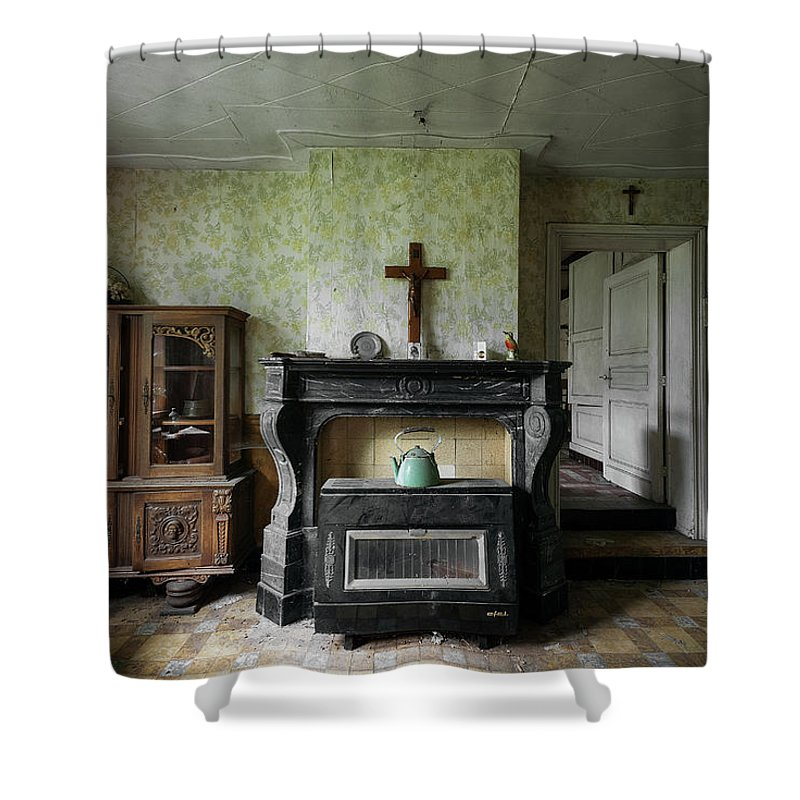 Urbex Shower Curtain featuring the photograph Sanctuary by Marissa Mancini