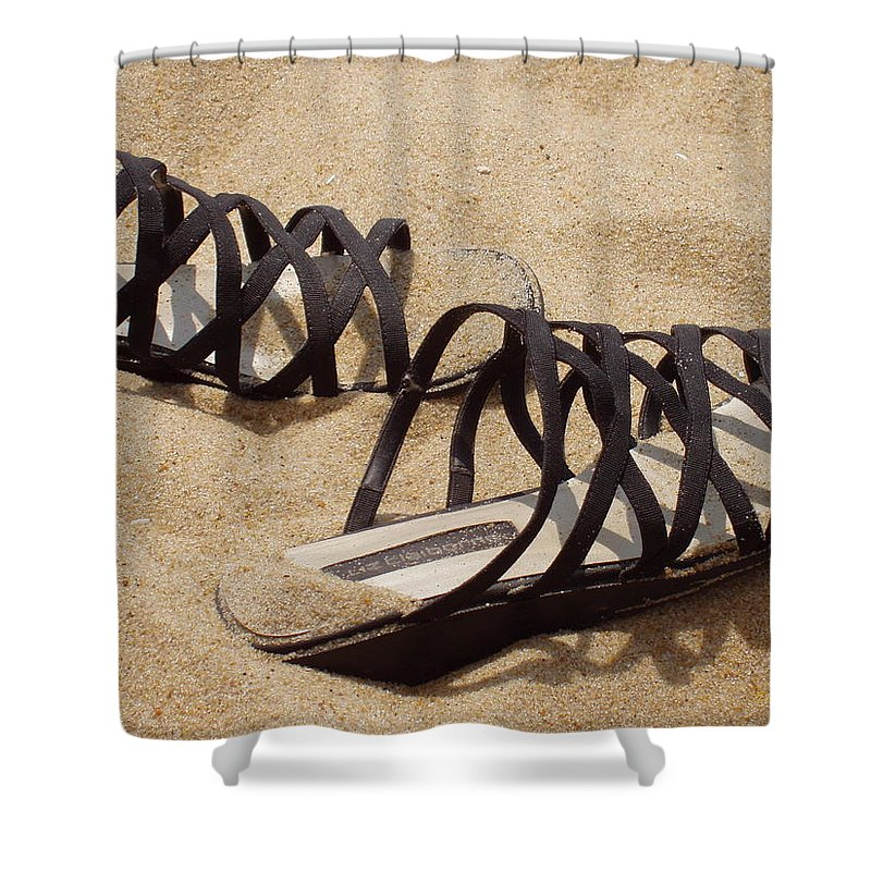 Shoes Shower Curtain featuring the photograph Sand Shoes I by Deborah Crew-Johnson