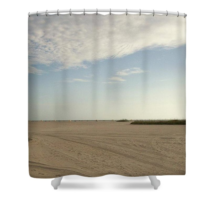 Nature Shower Curtain featuring the photograph Sand Storm At St. Pete Beach by Gail Kent