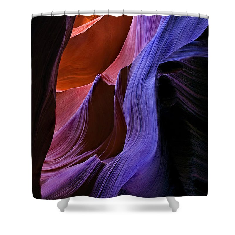 Sandstone Shower Curtain featuring the photograph Sandstone Cascade by Mike Dawson