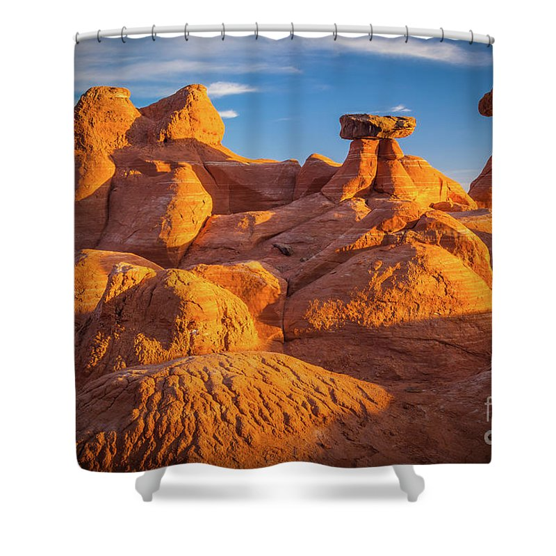 America Shower Curtain featuring the photograph Sandstone Castle by Inge Johnsson