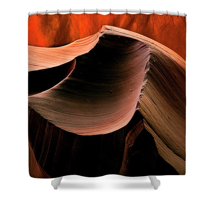 Antelope Canyon Shower Curtain featuring the photograph Sandstone Melody by Mike Dawson
