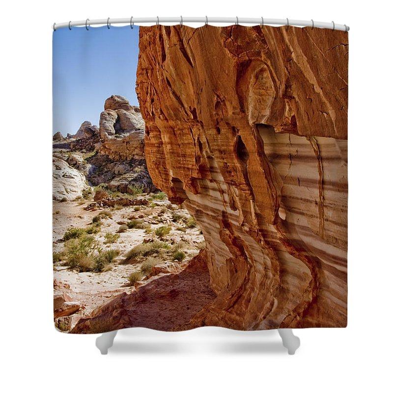 Sandstone Texture Shower Curtain featuring the photograph Sandstone Texture by Chris Brannen