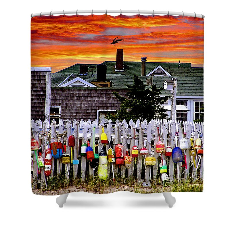 Sandy Neck Shower Curtain featuring the photograph Sandy Neck Sunset by Charles Harden
