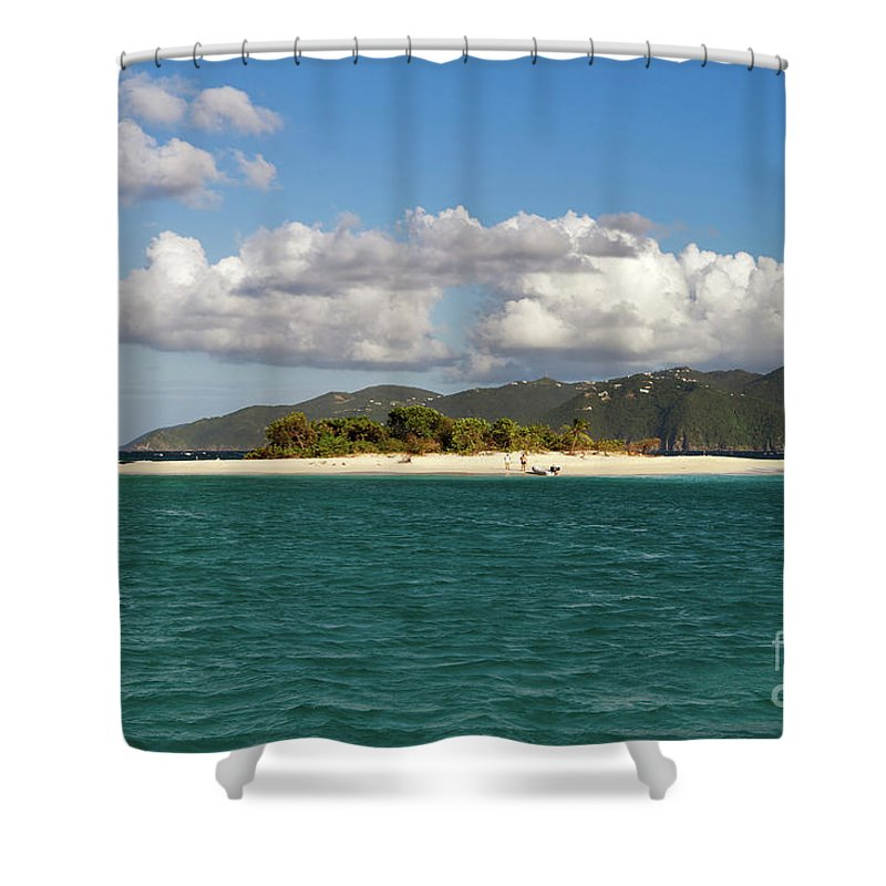 Sandy Spit Shower Curtain featuring the photograph Sandy Spit by Louise Heusinkveld
