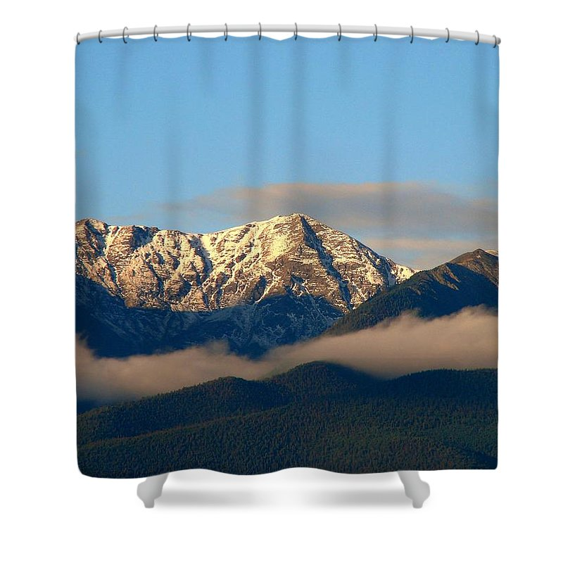 Colorado Mountains Shower Curtain featuring the photograph Sangre's by Jennifer Myers