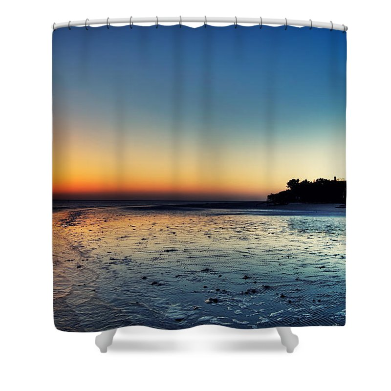 Lighthouse Shower Curtain featuring the photograph Sanibel Sunrise by Rich Leighton