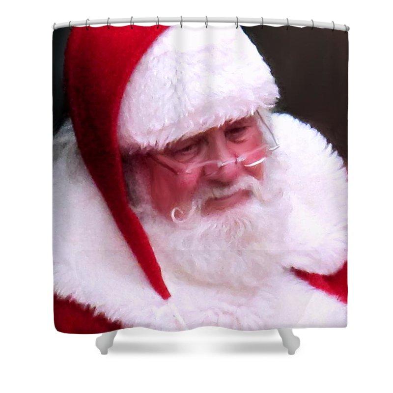 Santa Clause Shower Curtain featuring the digital art Santa Clause by Ian MacDonald