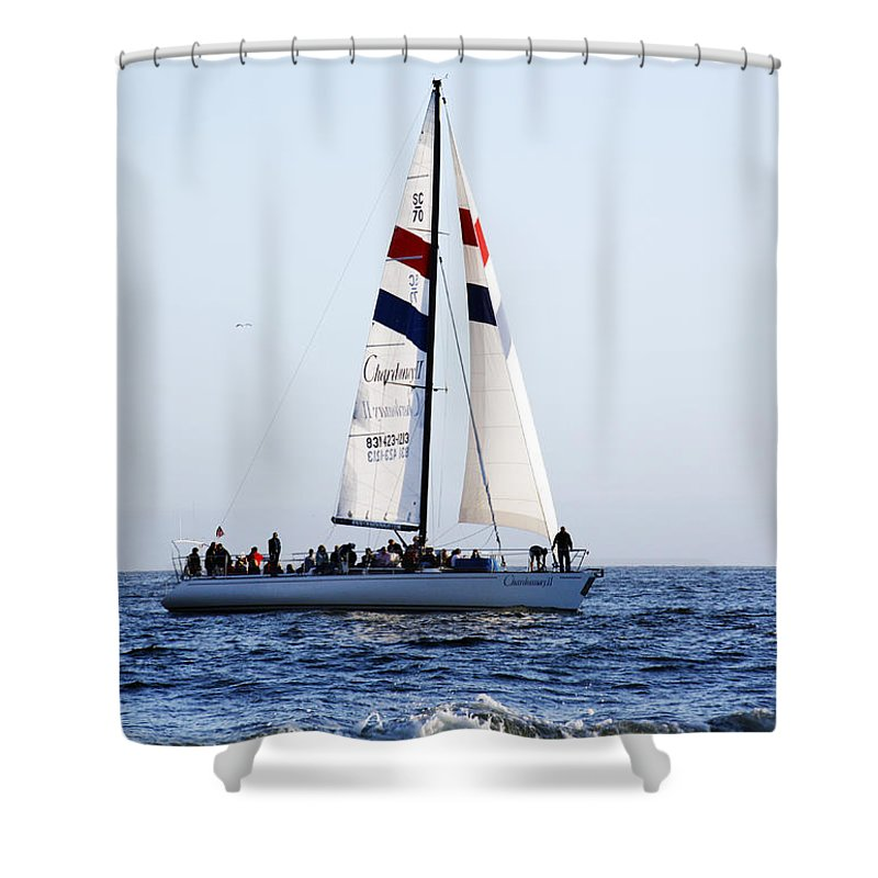 Santa Cruz Shower Curtain featuring the photograph Santa Cruz Sailing by Marilyn Hunt