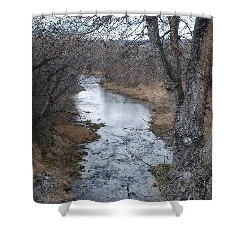 Santa Fe Shower Curtain featuring the photograph Santa Fe River by Rob Hans