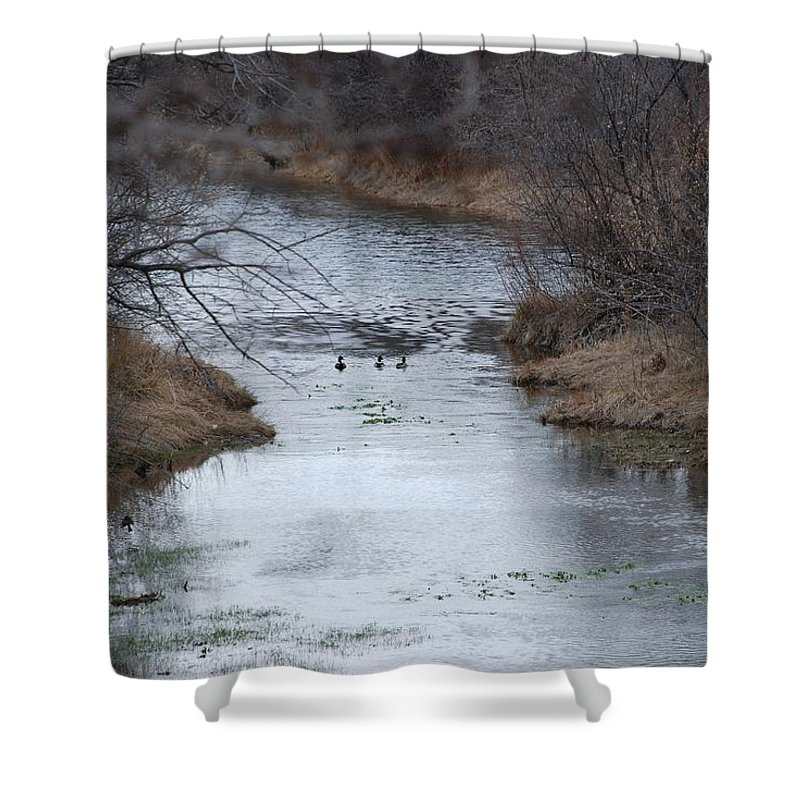 Birds Shower Curtain featuring the photograph Sante Fe River by Rob Hans