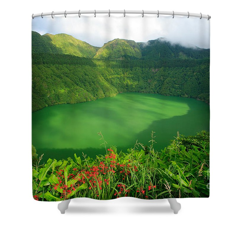 Azores Shower Curtain featuring the photograph Santiago Lake by Gaspar Avila