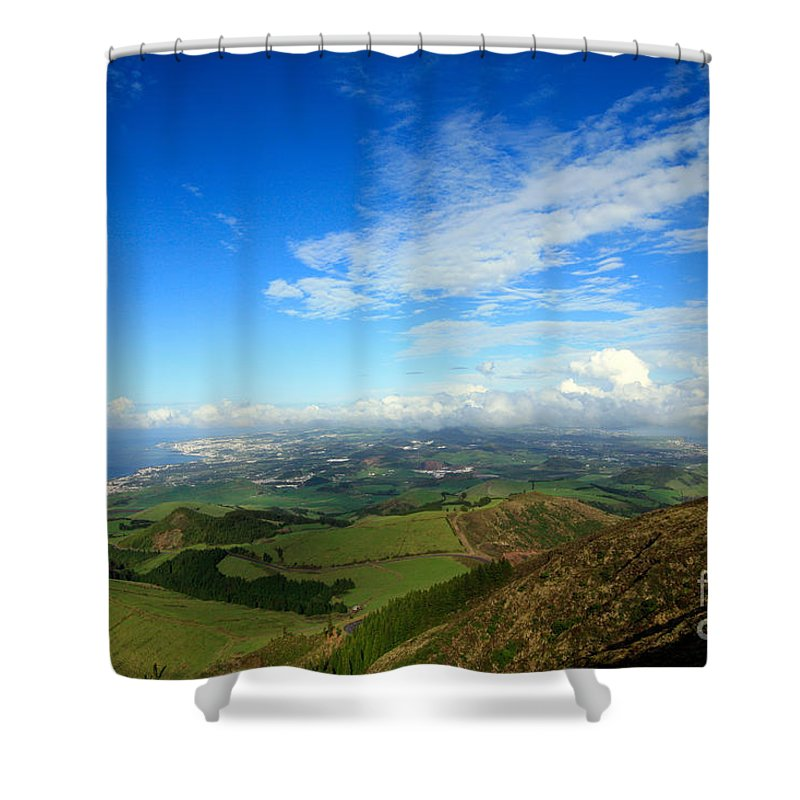 Azores Shower Curtain featuring the photograph Sao Miguel Island by Gaspar Avila