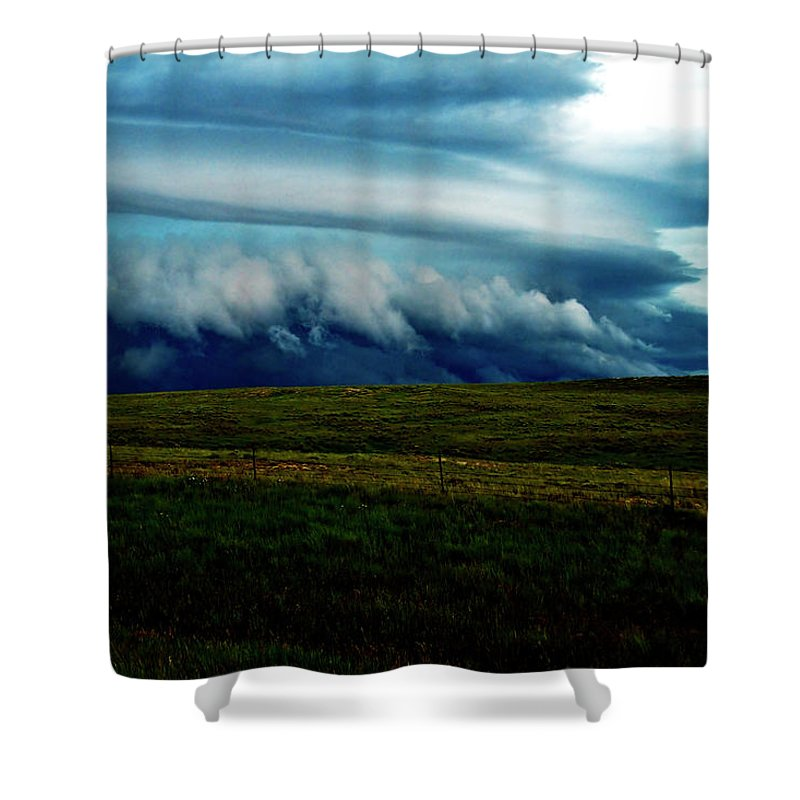 Storm Shower Curtain featuring the photograph Sapphire Portent by Joseph Noonan