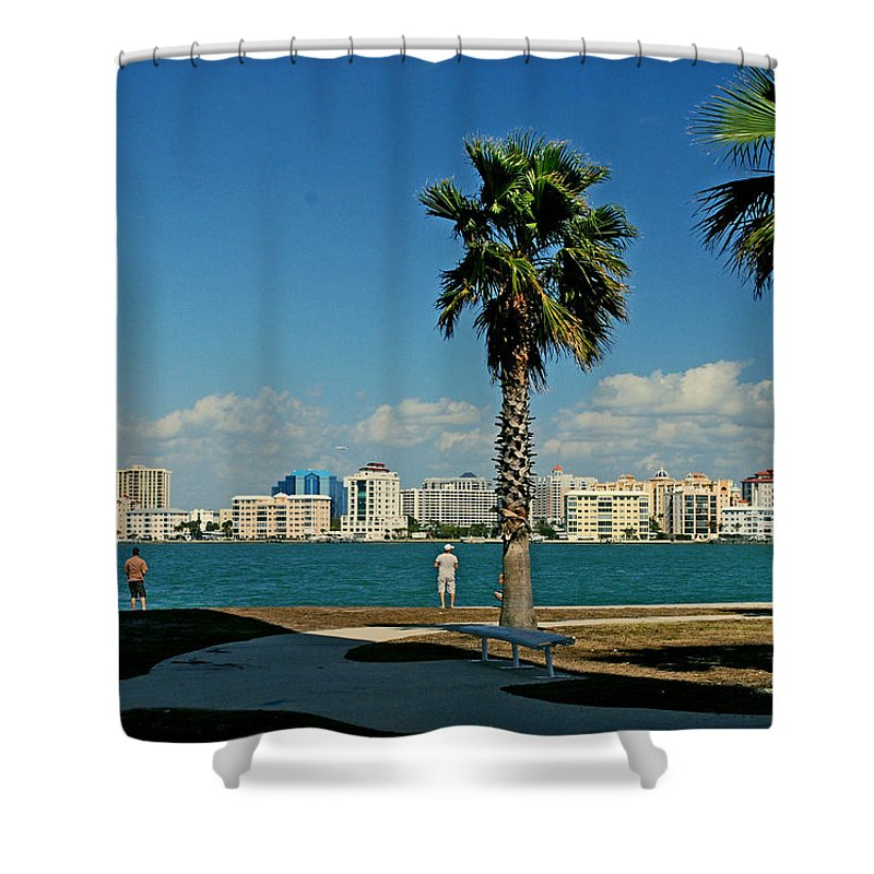 Florida Shower Curtain featuring the photograph Sarasota Bay by Gary Wonning